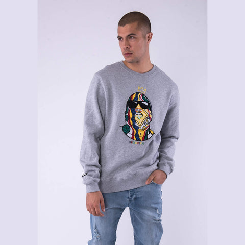 Cayler & Sons White Label Crowned Crewneck Htr Grey/Mc