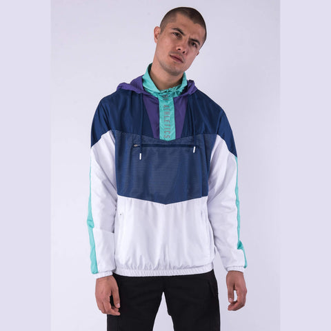 Cayler & Sons Black Label Insert Half Zip Windbreaker Navy/White