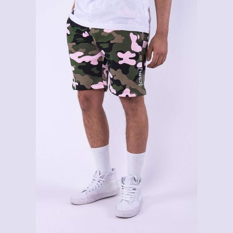 Cayler & Sons Black Label Brackets Sweat Shorts Woodrose Camo/White