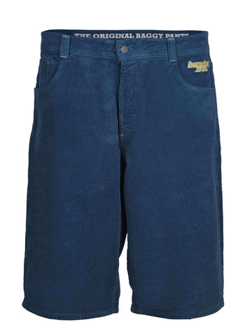 Homeboy X-Tra Baggy Cord Shorts Blue Steel