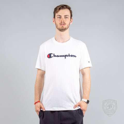 Champion Logo Crewneck T-Shirt White