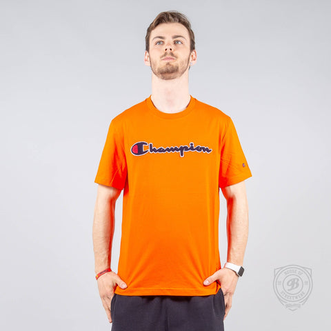 Champion Logo Crewneck T-Shirt Orange