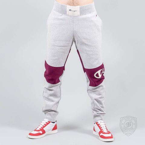 CHAMPION USA Color Block Elastic Cuff Pants LOXGM/RHO
