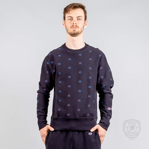 CHAMPION USA Allover Crewneck Sweatshirt NBK