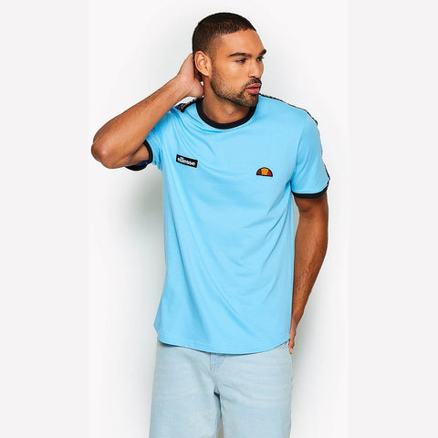 Ellesse Heritage Fede Taped T-Shirt Light Blue