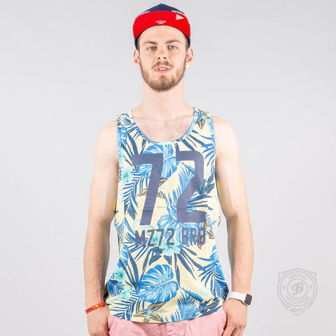 Mz72 Tank-Pinapple Tank Top Ice Lemon