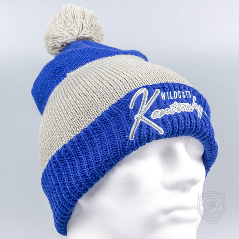 47 Brand Kentucky Wildcats Royal Hustle Knit Cuff Blue/Grey