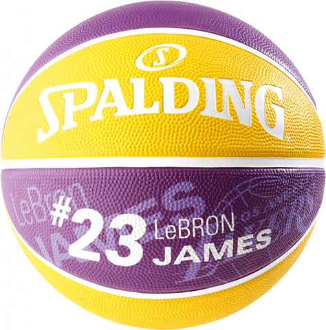 Spalding NBA Player Lebron James sz.7 Yellow/Purple