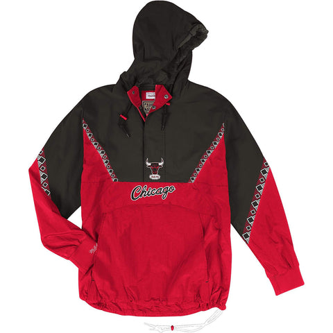 Mitchell & Ness Nba Half Zip Team Colour Anorak Chicago Bulls Red/Black