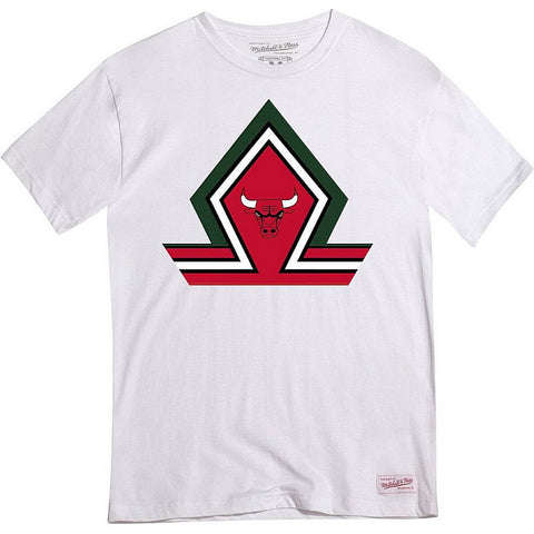 Mitchell & Ness Green House Ss Tee Chicago Bulls White
