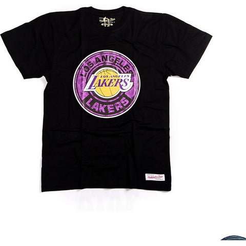 Mitchell & Ness Nba Tonal Floral Tee La Lakers Black
