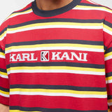 Karl Kani Retro Stripe Tee Red/Navy/Yellow/White