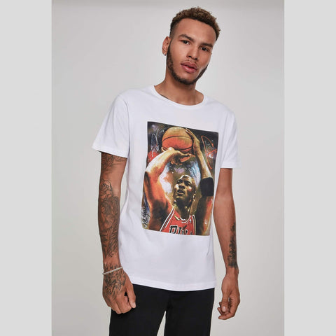 Mister Tee Michael Basketball Tee White
