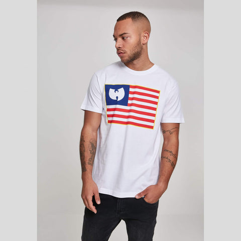 Wu-Wear Flag Tee Wht/Red