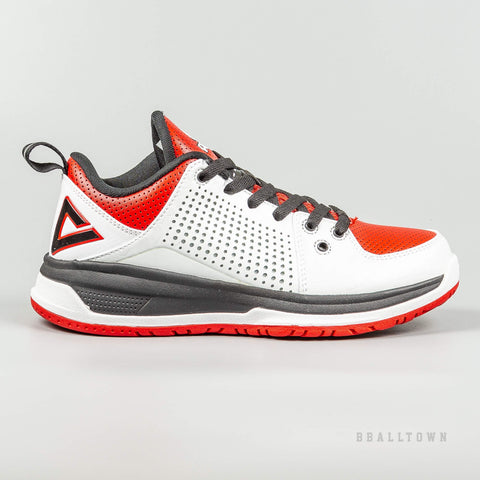 Peak Basketball Shoes Kids White/Red