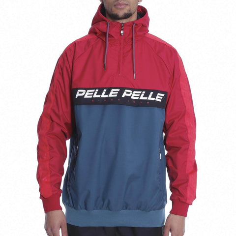 Pelle Pelle Colorblock Hooded Jacket Red