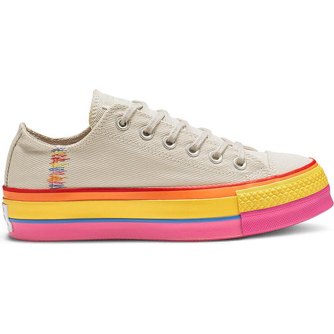 Converse Chuck Taylor All Star Lift Ox Rainbow Vintage White/Pale Putty