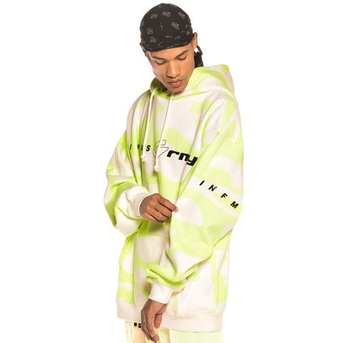 Grimey Wear Looter Cult Neon Hoodie White White