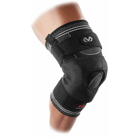Mcdavid Elite Engineered Elastic™ Knee Brace With Dual Wrap And Hinges [5149] Black