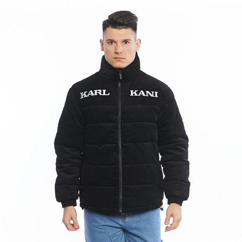 Karl Kani Retro Cord Puffer Jacket Black