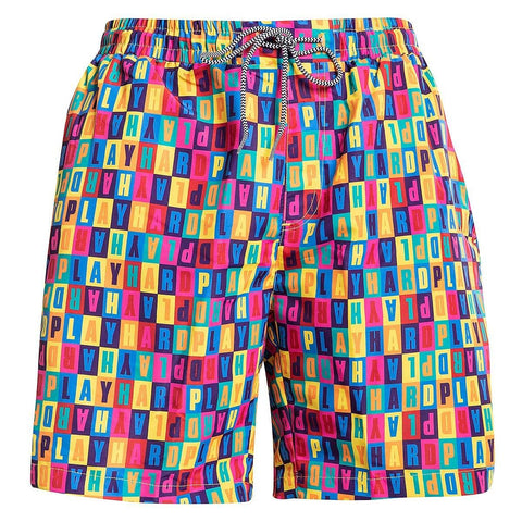 K1X Alphabet Beach Shorts Multicolor