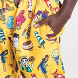 K1X Ice Cream Beach Shorts Cyber Yellow