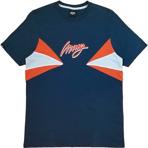Wrung Destructee Tshirt Navy