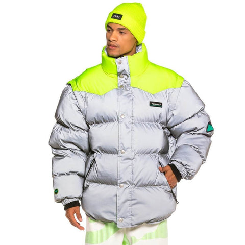 Grimey Wear Grmy Vostok Reflective Puffy Jacket Grey