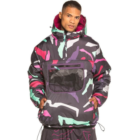 Grimey Wear Grmy Mysterious Vibes Anorak Reversible Wine