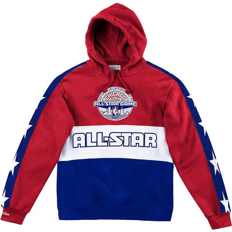 Mitchell & Ness Nba Leading Scorer Fleece Hoody All-Star 1988 Red / Royal