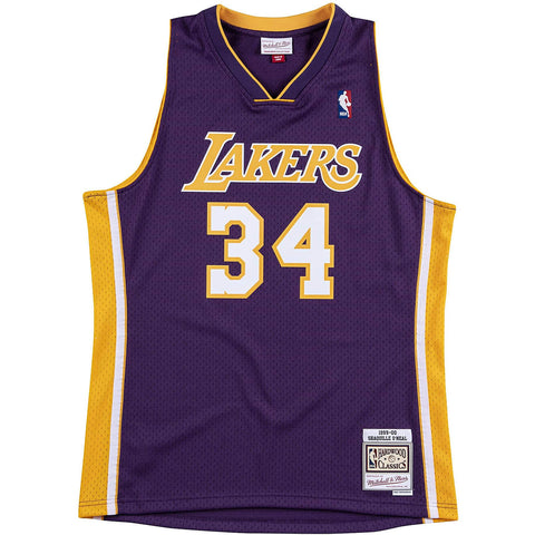 Mitchell & Ness Nba Swingman Jersey Los Angeles Lakers 1999-00 Shaquille O'Neal 34 Purple
