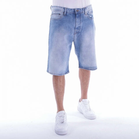 Pelle Pelle Double P Denim Short Ice Wash