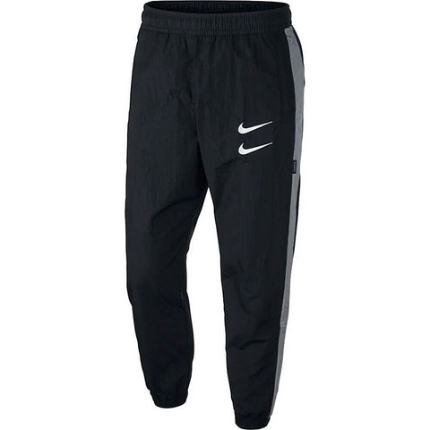 Nike Sportswear Swoosh Woven Trousers Black/Particle Grey/White