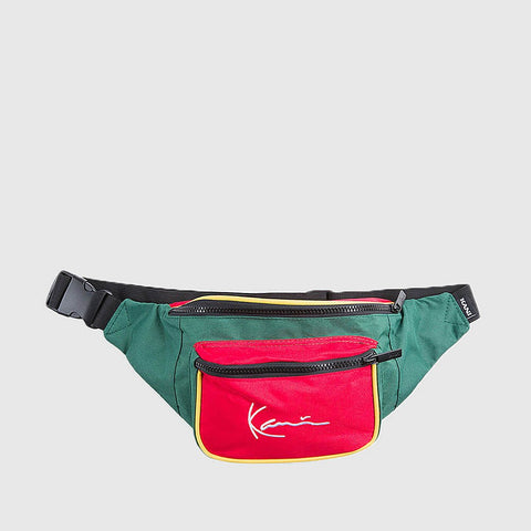 Karl Kani Signature Block Waist Bag Red/Green/Yellow