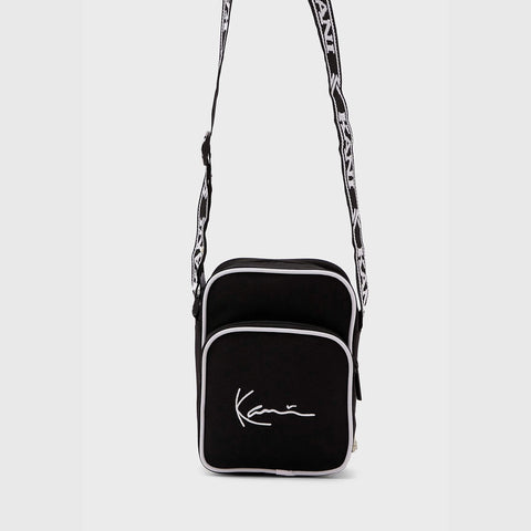 Karl Kani Signature Tape Messenger Bag Black/White