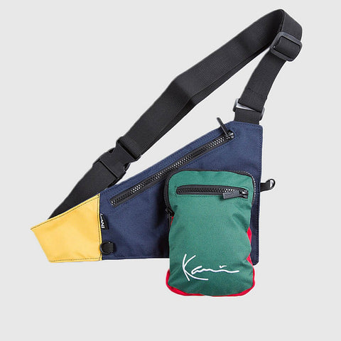 Karl Kani Signature Block Body Bag Navy/Green/Yellow/Red