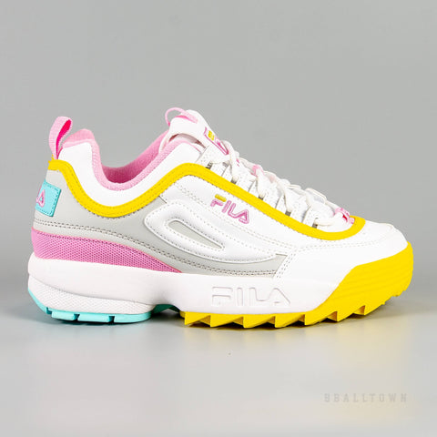 Fila Disruptor Cb Low Wmn White / Limelight