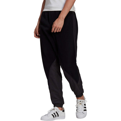 Adidas Originals Big Trefoil Polarfleece Mix Trackpant Black