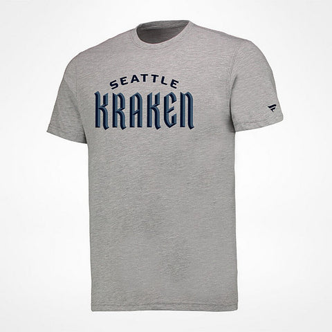 Fanatics Seattle Kraken Wordmark T-Shirt Grey