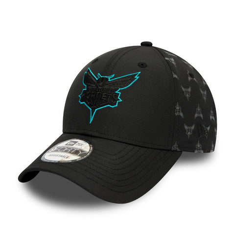 New Era Šiltovka 940 Nba Nylon Charlotte Hornets Black