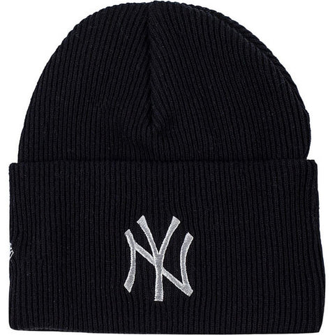 New Era Čiapka Mlb Wordmark Cuff Knit New York Yankees Blk