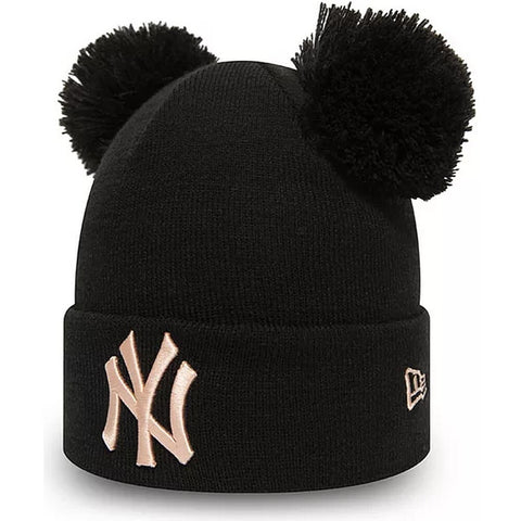 New Era Čiapka Mlb Wmns League Essential Double Bobble New York Yankees Blk