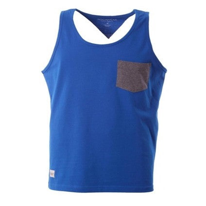 ROCAWEAR SNORKEL BLUE TANK TOP CLEAR
