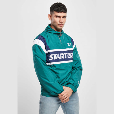 Starter Half Zip Retro Jacket Retro Green/Mid Night/White