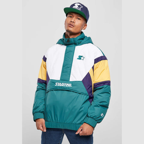 Starter Color Block Half Zip Retro Jacket Retro Green