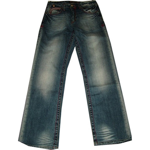 AKADEMIKS FRAME STPL STCH POCKET POOL BLUE JEANS