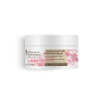 Mademoiselle Provence CRÈME FOUETTÉE CORPS ULTRA HYDRATANTE - Rose & Pivoine, 98.1% naturelle,  made in France