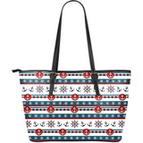 Anchors & Wheel Large Leather Tote Bag - Capt. Jack