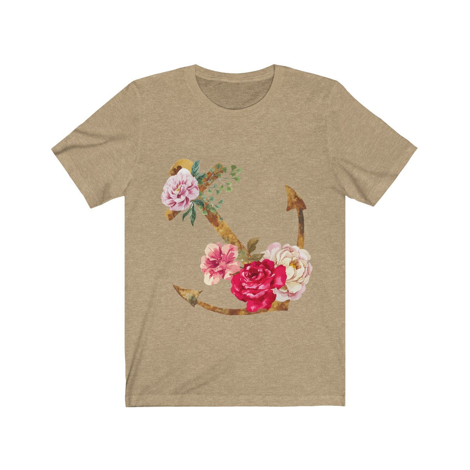 Flora Anchor Short Sleeve Tee - Capt. Jack