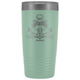Personalized Vintage Anchor -  Vacuum Insulated Tumbler - Capt. Jack